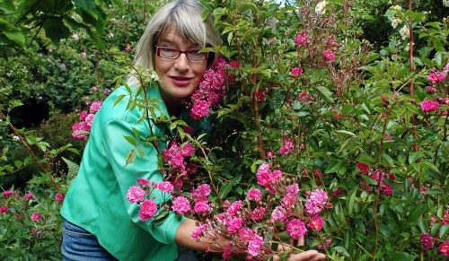Mia in her garden